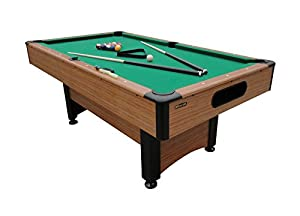 Mizerak Dynasty Space Saver 6.5' Billiard Table with Compact Design to Fit in Smaller Rooms, Leg Levelers for Perfectly Even Playing Surface, Double-sealed MDF Play-bed for Consistent Roll and Automatic Ball Return for Quick Game Reset