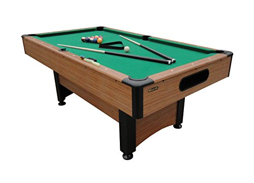 Mizerak Billiards Balls - Mizerak Dynasty Space Saver 6.5' Billiard Table with Compact Design to Fit in Smaller Rooms, Leg Levelers for Perfectly Even Playing Surface, Double-sealed MDF Play-bed for Consistent Roll and Automatic Ball Return for Quick Game Reset