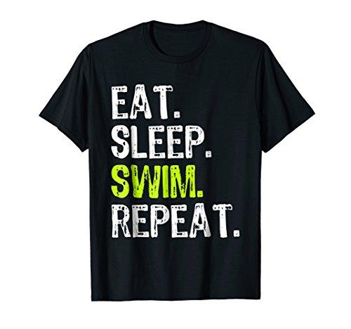 (Eat Sleep Swim Repeat - Swimming Sport T-Shirt)