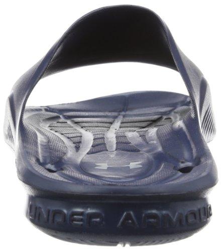 Under Armour Herren UA Locker II Slides Midnight Navy / Metallic Silber
