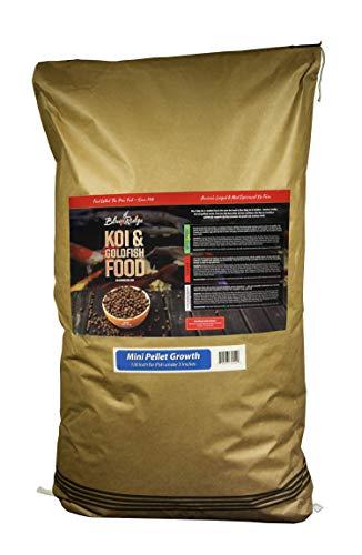 Blue Ridge Fish Food Pellets [50lb] Koi and Goldfish Growth Formula, Mini Floating Pellet, Balanced Diet