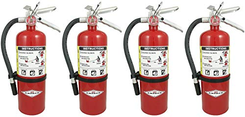 Amerex B402 DFHJTEU 5lb ABC Dry Chemical Class A B C Fire Extinguisher, with Wall Bracket, 4 Pack by Amerex (Image #1)