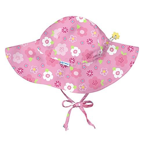 i play. Baby Girls Pink Floral Print Brim Hats with Toggle 0mo-6mo, 0/6mo