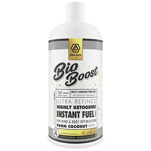 BioBoost Ketogenic Trigger | Pure C8 MCT Oil | Caprylic Acid Triglycerides | Keto Supplement | Energy Focus and Fat Burning Amplifier | 16oz.