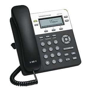 Grandstream GXP-1450 - Teléfono IP (PoE, 2 cuentas SIP, 180x60 píxeles, pantalla retroiluminada)