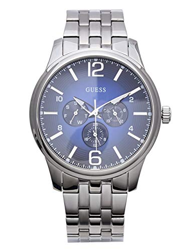 GUESS Factory Men's Silver-Tone Multifunction Watch