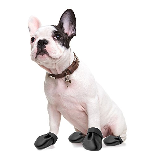 Disposable Dog Boot Protector - Black/Black- 24 Pack- Small by Paw Control