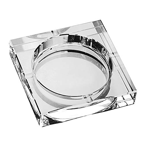 (Amlong Crystal Large Square Crystal Ashtray with Gift Box, 6 x 6 inch (150mm X150mm), Clear)