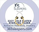 365 Sleeper Gold Plated Sterling Silver SINGLE