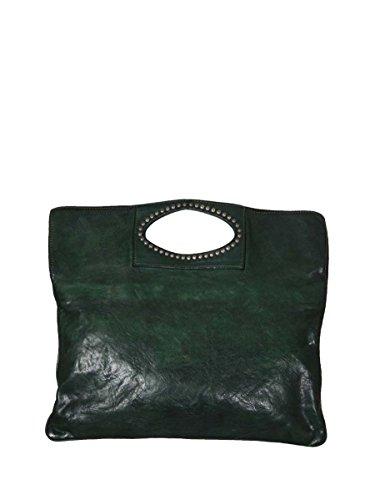 Campomaggi - Bolso cruzados de Piel para mujer Verde BOTTIGLIA 38x38x2 cm