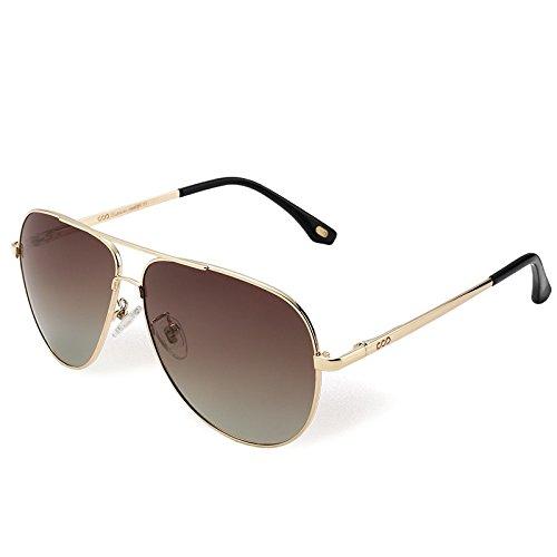 de en hombres sesgada Brown vuelve Brown sol metal sol TL de Steampunk Aviador de Sunglasses gafas UV400 guía gafas Bwqg5tP