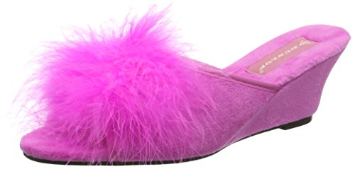 Dunlop Women's Marilyn Open Back Slippers Pink (Fuchsia) 1gnGVDsO
