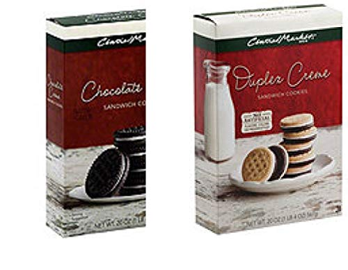2 Bags Central Market Duplex Creme/Chocolate Creme Sandwich Cookies 20 OZ ea
