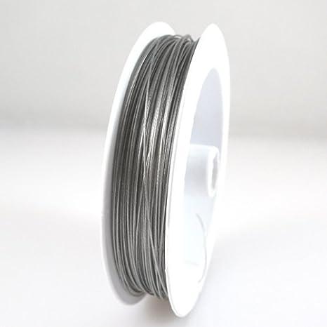 Schmuckdraht nylonummantelt 0,38mm silberfarben 5m