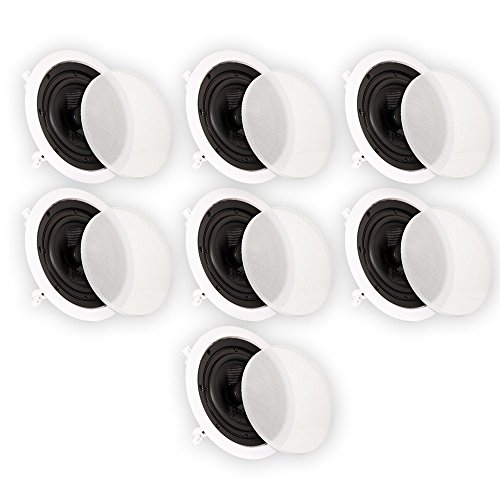 Theater Solutions 6.5'' In Ceiling Deluxe HD Home Theater 7 Speaker Set 1750 Watts TSS6C-7S by Theater Solutions