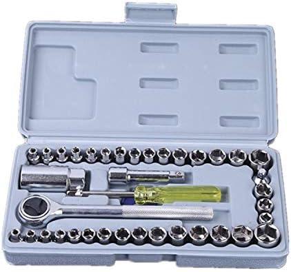 パワーツールセット 40ピーススリーブツールマニュアル多機能ソケットレンチ家庭用自動修理キットツールキット