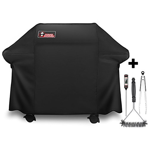 - Kingkong Gas Grill Cover 7553 | 7107 Cover for Weber Genesis E and S Series Gas Grills Includes Grill Brush, Tongs and Thermometer