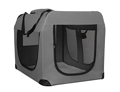 Weave Pet Carrier - OxGord Dog Crate Soft Sided Pet Carrier | Foldable Portable Soft Pet Crate Training Kennel | Great for Indoor or Outdoor