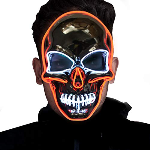 Scary LED Mask for Festival Cosplay Halloween Costume Masquerade Parties]()