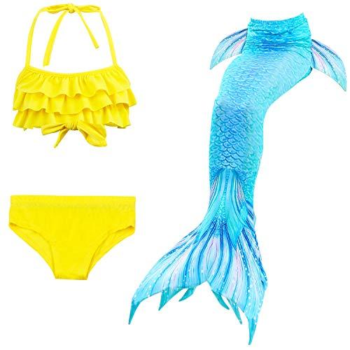 Children Princess Fairytale Little Mermaid Cosplay Outfit Halloween Ariel Costume 4T]()