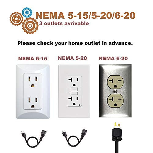 POTATO EV Charger, Level 2 Electric Vehicle Charging Station, NEMA6-20 Plug with Adapter for Level 1 (NEMA5-15,100-240V 3.8KW) Compatible with All EV Cars by POTATO (Image #6)