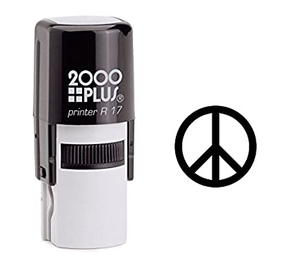 Amazon Peace Symbol Self Inking Rubber Stamp Black Ink A