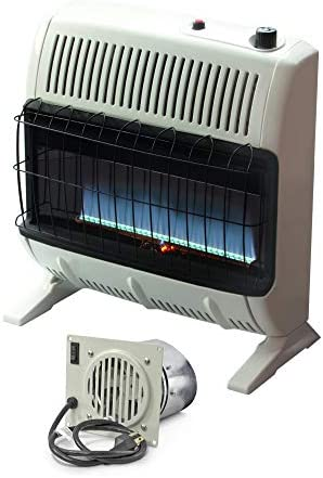 Mr. Heater MHVFBF20NGBT 20K VentFree Blue Heater W Blower