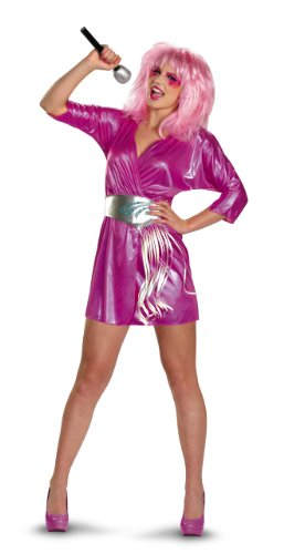 Disguise Jem and The Holograms Deluxe Womens Costume, Pink/Silver, Medium/8-10