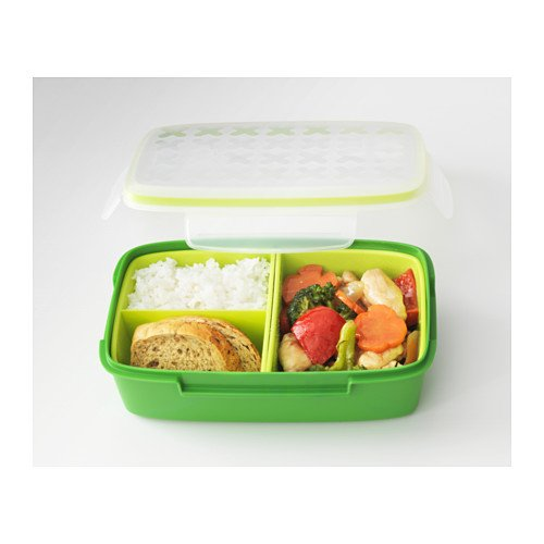Festmaltid Lunch Box Bento Box Green by Ikea