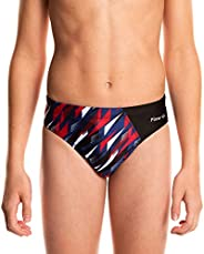 Flow Splice Swim Briefs - Boys Brief Style Swimsuit for Swimming Practice and Competition in Suit Size 21 to 3