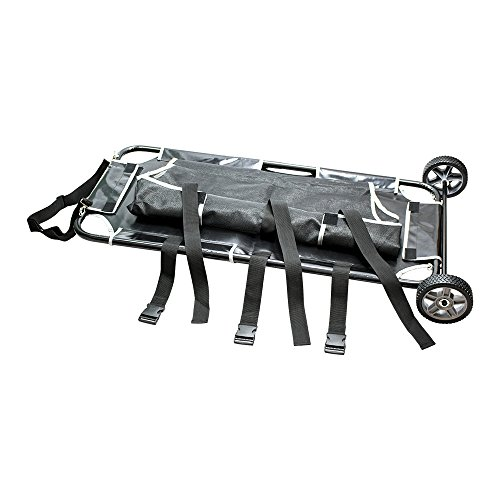 Pet Animal Stretcher Mobile Trolley, 200lbs Capacity, 45L x 22W, Base is 25 with Wheels On