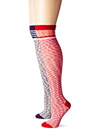 K. Bell Women's Space Dye Knee High Sock 2-pack