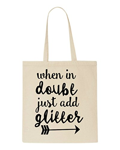 When Statement Doubt Bag Shopper In Add Beige Glitter Tote qrxfqzI