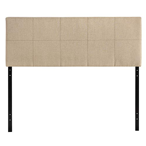 (Modway Oliver Linen Fabric Upholstered Queen Headboard in Beige )