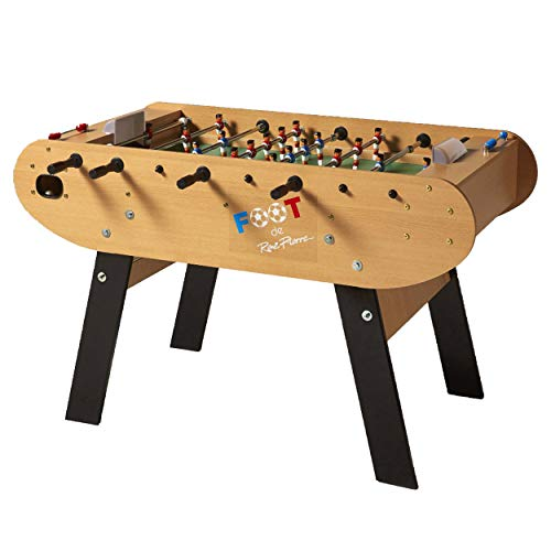 (René Pierre Foot Foosball Table with Reinforced Legs and Single Goalies)