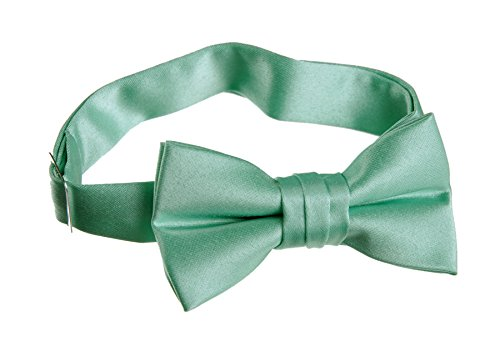 Pre Tied Bow Tie with Adjustable Neck Strap (Kids, Mint Green)