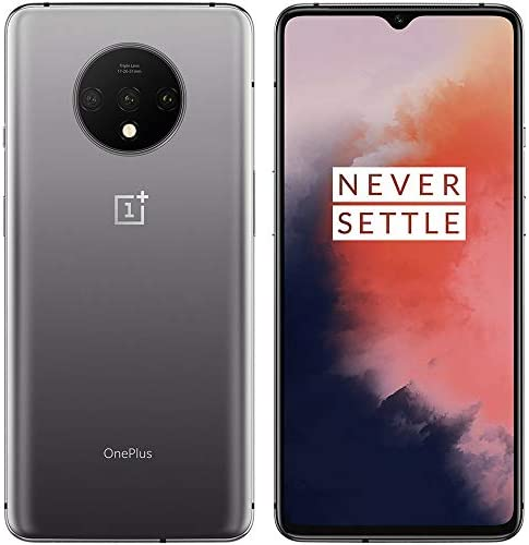 """OnePlus 7T 6.55"""" HD1907 Single Sim GSM Unlocked Smartphone (Renewed) (Frosted Silver, 128GB) WeeklyReviewer"""