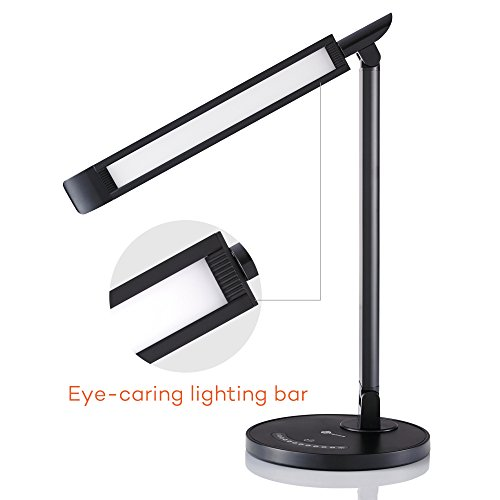 TaoTronics LED Desk Lamp, Eye-caring Table Lamps, Dimmable Office Lamp with USB Charging Port, Touch Control, 5 Color Modes by TaoTronics (Image #2)
