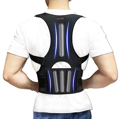 Back Brace Posture Corrector - Back Support Belt with Fully Adjustable Straps Relief Lower & Upper Back Pain, Improve Posture & Provides Lumbar Support - Fit for Men & Women