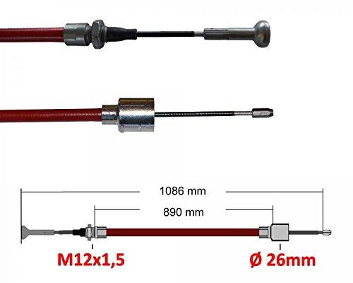 2 x ALKO Longlife montage 247284 câ ble de frein de la remorque Longueur: 890mm/1086mm FKAnhängerteile