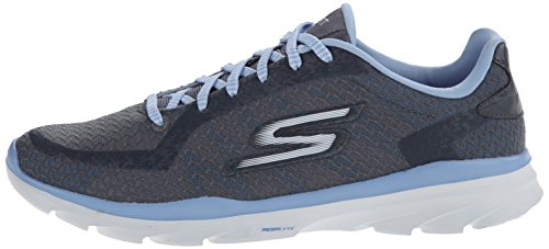 Skechers Go Fit 3 Mujer Gris claro Lona Zapatos para Caminar EU 40