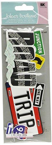 JOLEES 50-60060 Sticker 3D Road Trip Title Multicolor