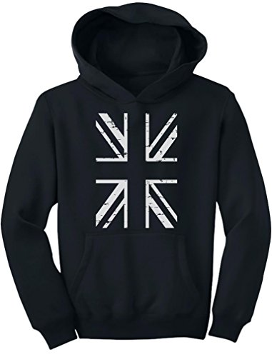 TeeStars - United Kingdom Flag Vintage British Flag Youth Hoodie Medium ()