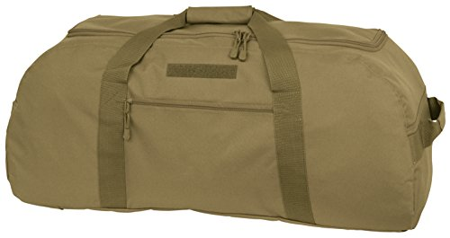 Mercury Tactical Gear Code Alpha Giant Convertible Duffel Bag with Backpack Straps, Basic, Coyote Brown (Mercury Luggage Bag)