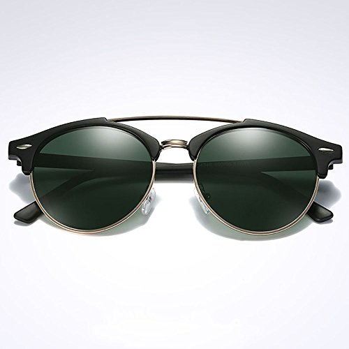 steampunk Gafas Gafas Deportes para polarizadas Hombres de sol Ronda mujeres gafas Verde sol de hombres XqnBxn