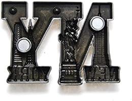 Bold NY carta forma de Nueva York Souvenir Metal imán para nevera ...