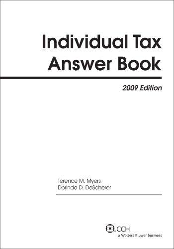 Individual Tax Answer Book (2009) (Answer Books)