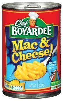 - Chef Boyardee, Mac & Cheese, 15 oz Can (Pack of 6)
