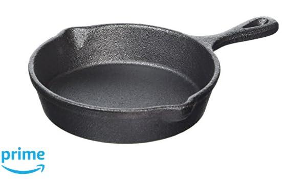 Olympia Mini redonda de hierro fundido cacerola 115 mm 26 x 160 x115 mm sartén utensilios de cocina comercial: Amazon.es: Industria, empresas y ciencia