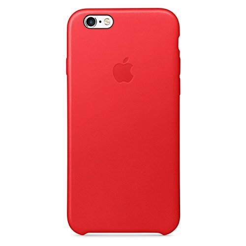 Apple Cell Phone Case for iPhone 6 & 6s Only - Retail Packaging - Leather Red